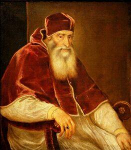pintura del papa paulo III