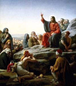 pintura el sermón de la montaña