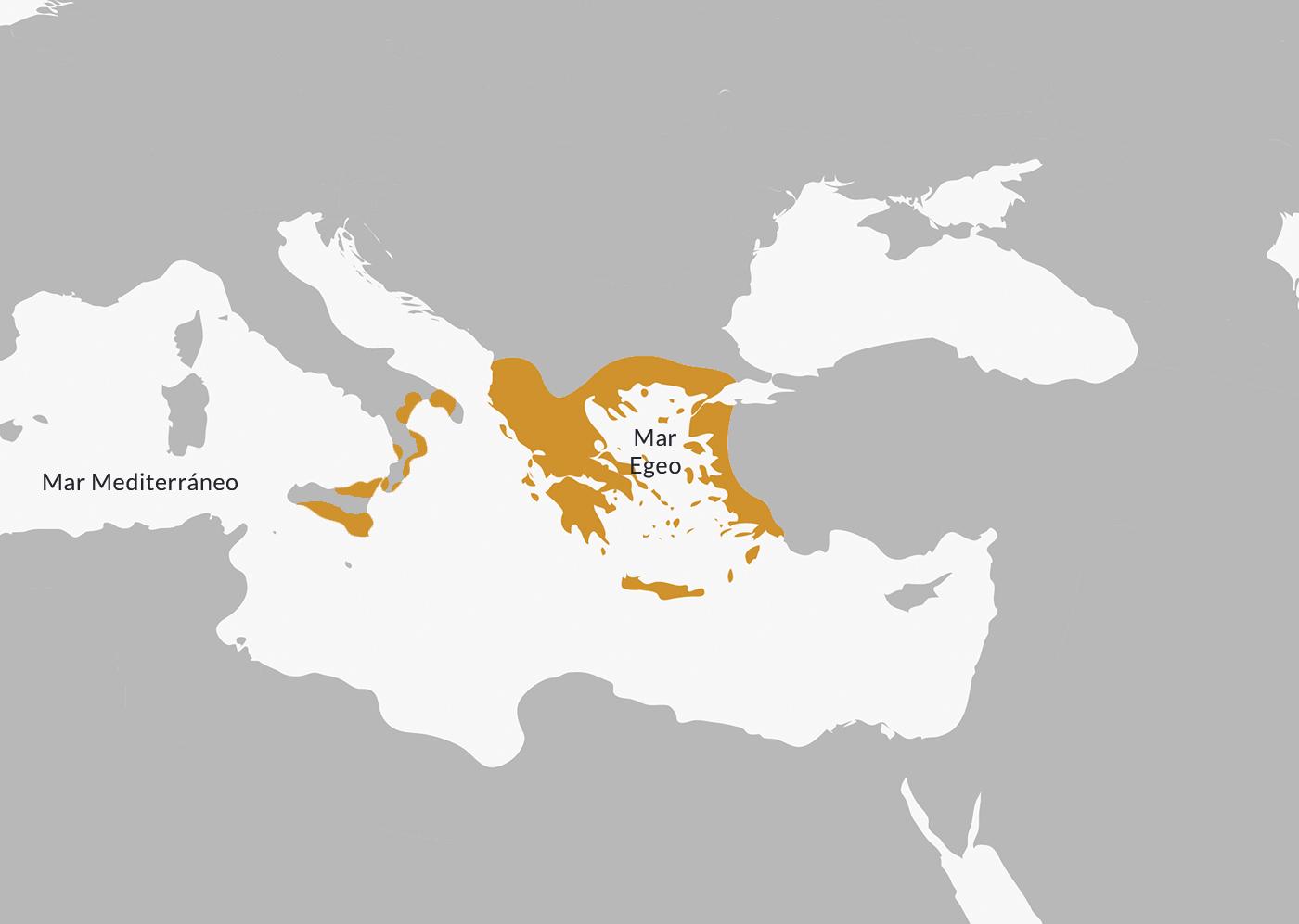 Ubicación de la Antigua Grecia.