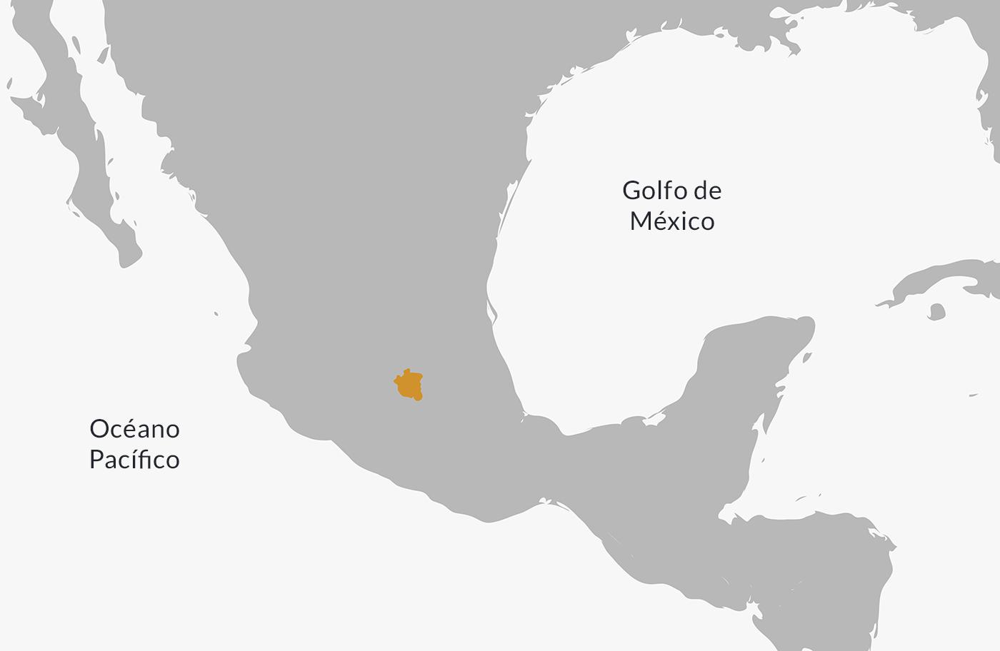 Ubicación en el mapa de la cultura teotihuacan.