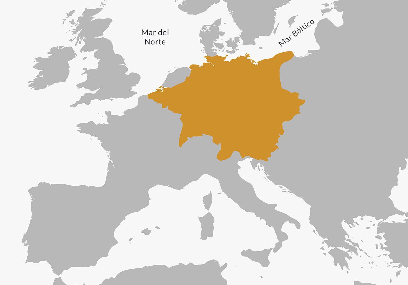 Mapa de la Paz de Westfalia