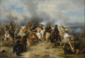 pintura de la batalla de Lützen