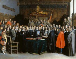 pintura Firma del Tratado de Münster
