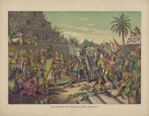 Encuentro entre Hernán Cortés y Moctezuma