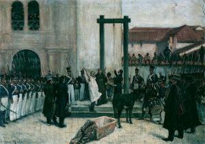 pintura de la Ejecución de Pedro Domingo Murillo