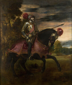 pintura de Carlos V a caballo en Mühlberg