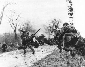 fotografía de las tropas alemanas en batalla de las Ardenas