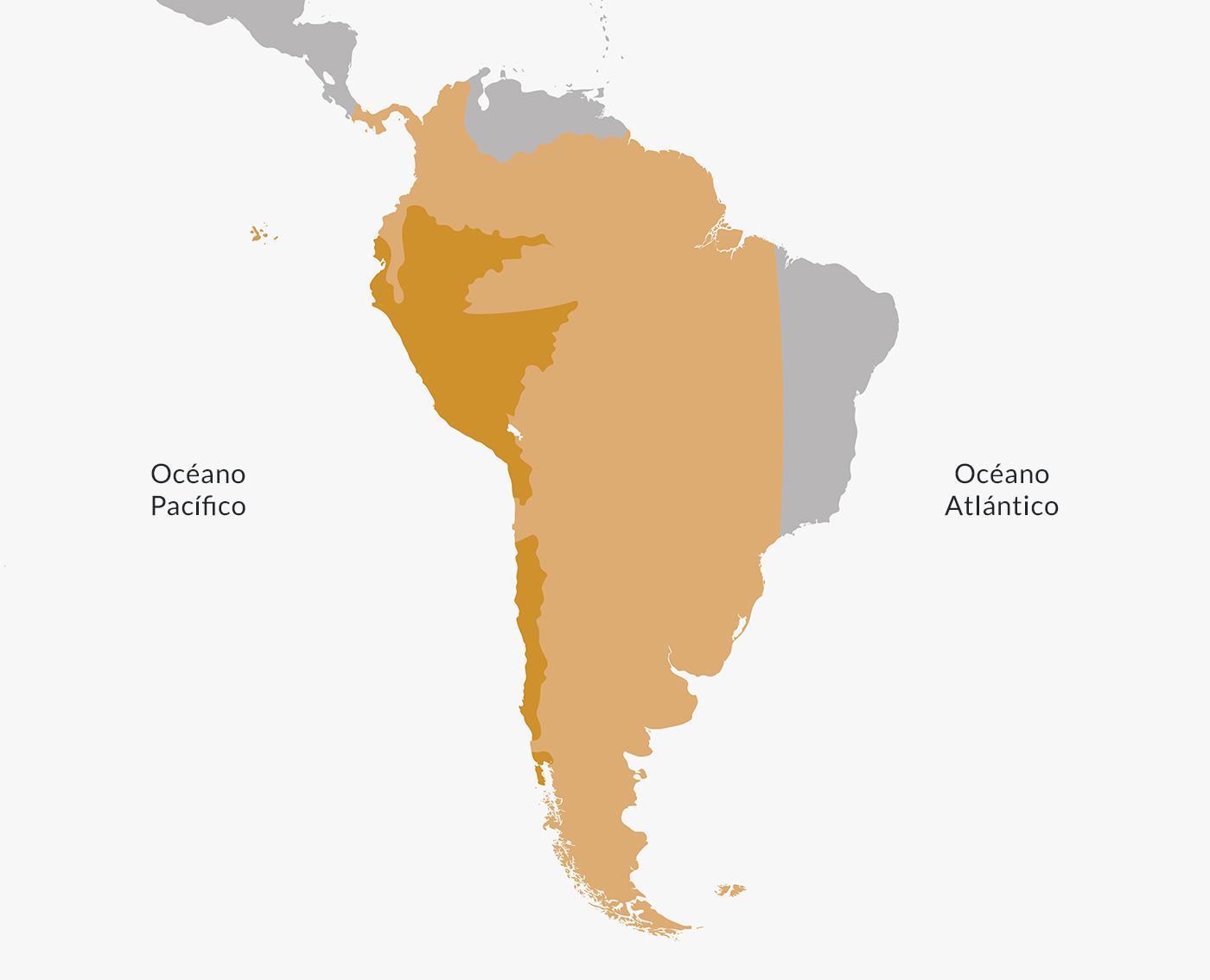 Ubicación del Virreinato del Perú.