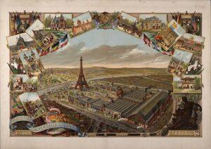 Postal sobre la Exposición Universal de París