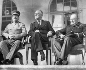 Stalin, Roosevelt y Churchill, en la Conferencia de Teherán.