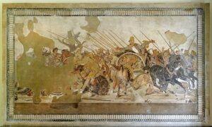 Representación de la batalla de Issos