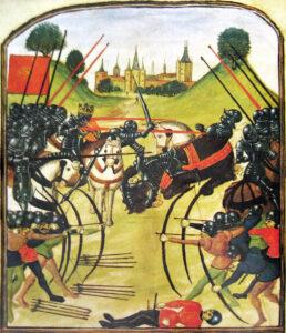 Pintura de la Batalla de Tewkesbury