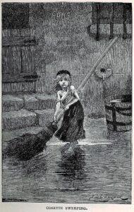Ilustración de la novela de Victor Hugo, Los miserables.