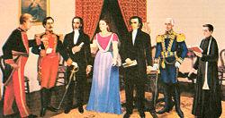 imagen de la reunión de los conspiradores quiteños de 1809