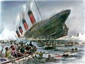 imagen del hundimiento del titanic