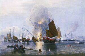 imagen de la guerra del opio