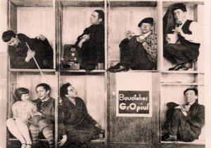 imagen de un Grupo de alumnos de la Bauhaus en Dessau, 1928.