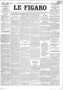 Manifiesto futurista, publicado en el diario francés Le Figaro, en 1909.