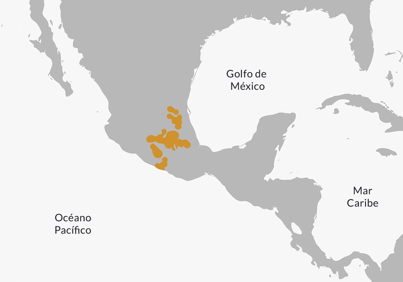 Mapa de ubicación de los nahuas