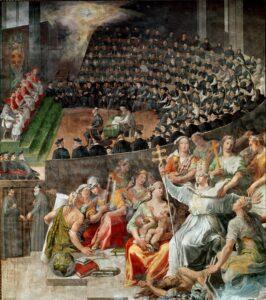pintura del concilio de trento