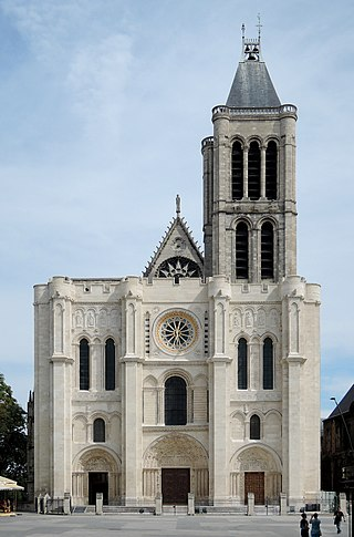fotografía de la Basílica de Saint Denis, Francia.