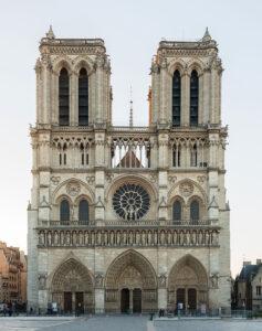 fotografía de Notre Dame de París.
