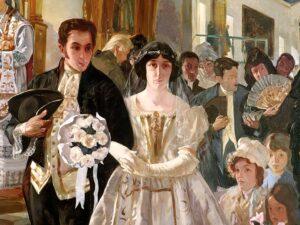 Pintura del casamiento de Bolívar