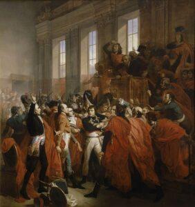 pintura de Napoleón durante el golpe de Estado