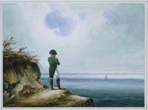pintura de Napoleón en Santa Elena