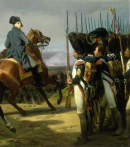 pintura de Napoleón en la batalla de Jena