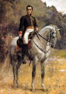 pintura de Simón Bolívar en Carabobo