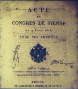 Acta final del congreso de Viena