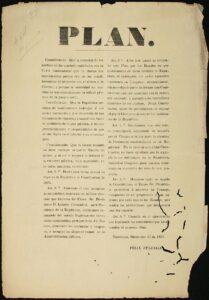imagen le la copia del Plan de Tacubaya