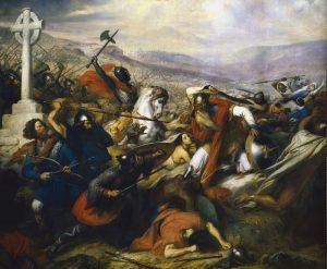 pintura de la Batalla de Poitiers, por Charles de Steuben.