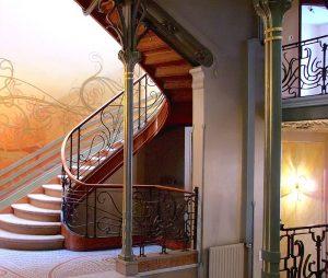 fotografía del interior de la Casa Tassel