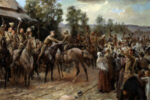 pintura de las tropas británicas en Ladysmith
