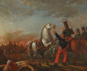 pintura Carga de caballería del ejército federal (1839) de Carlos Morel