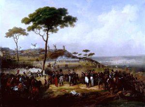 Episodio de la intervención de Francia en España en 1823, 1828. Pintura del artista francés Hippolyte Leconte