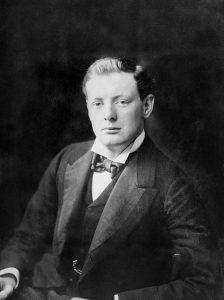 retrato de Winston Churchill en 1900