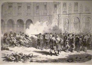 imagen de la ejecución de comuneros capturados