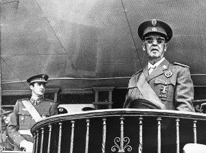 photograph of Franco and Juan Carlos de Borbón
