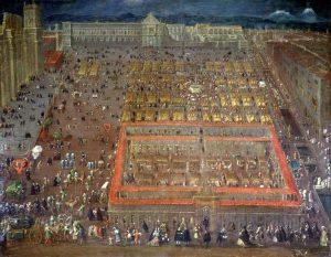 pintura de la plaza de armas de la ciudad de mexico