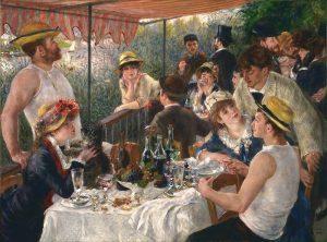 Pintura impresionista el almuerzo de los remeros