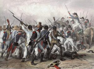 pintura de la batalla de Vertières