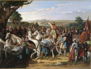 pintura de la batalla de guadalete