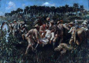 pintura de la muerte de antonio maceo
