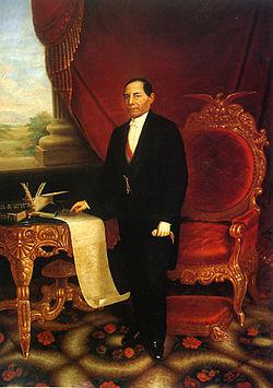 Retrato del presidente Benito Juárez